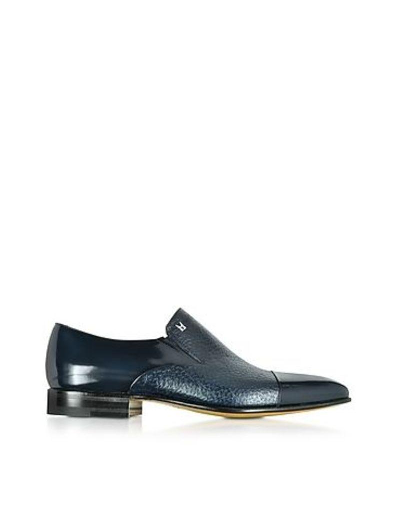 Moreschi - Metz Blue Leather Slip on Loafer