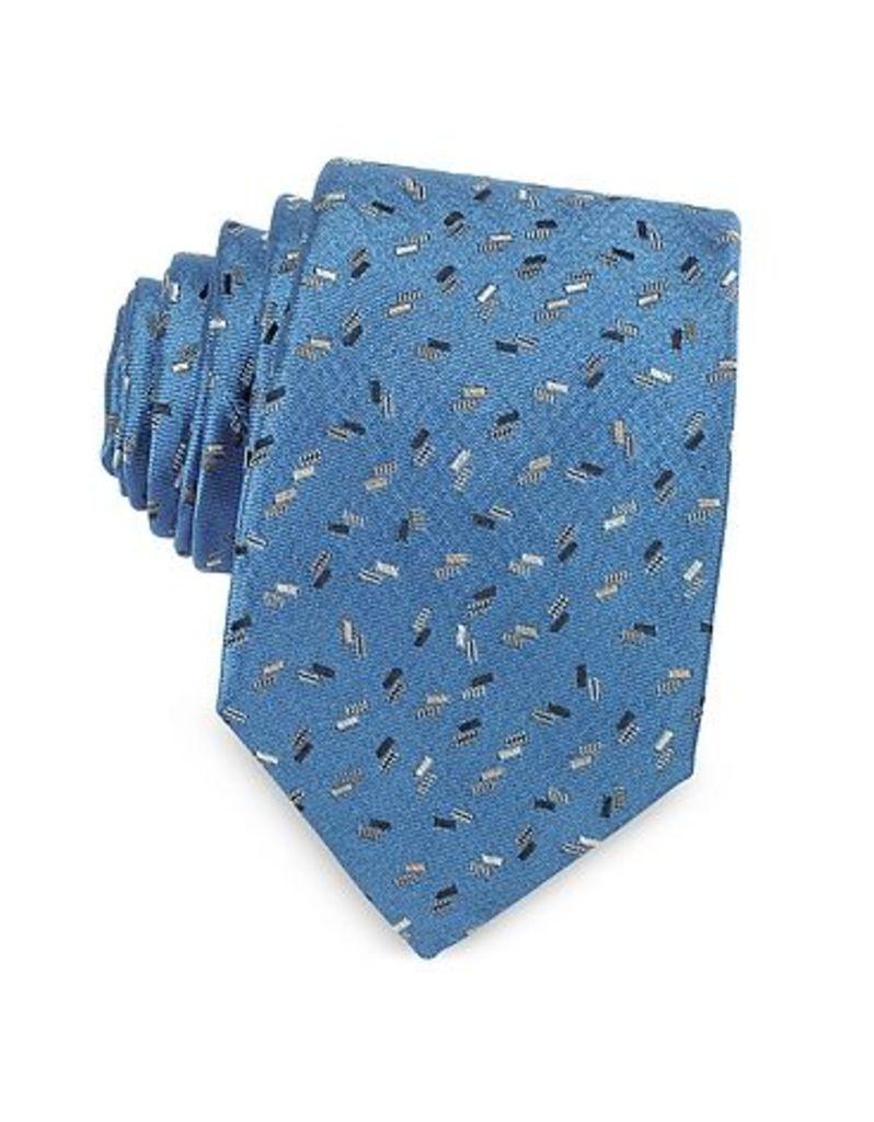 Lanvin - Confetti Pattern Woven Silk Tie