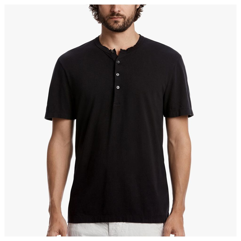 BRUSHED JERSEY HENLEY