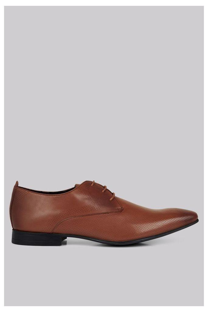 Moss London Charlton Pindot Tan Derby Shoes