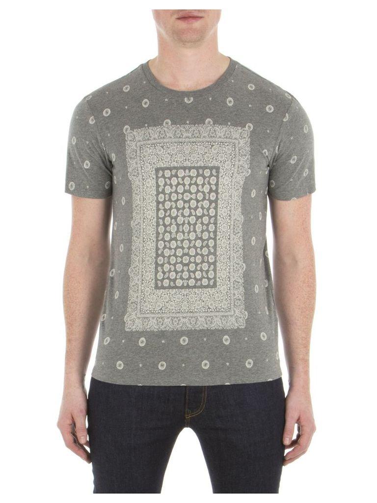 Bandana Print T-Shirt XXS M31 Heritage Grey