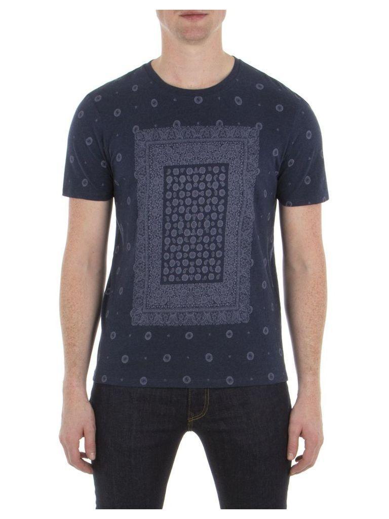 Bandana Print T-Shirt XXL 63B Indigo Blue