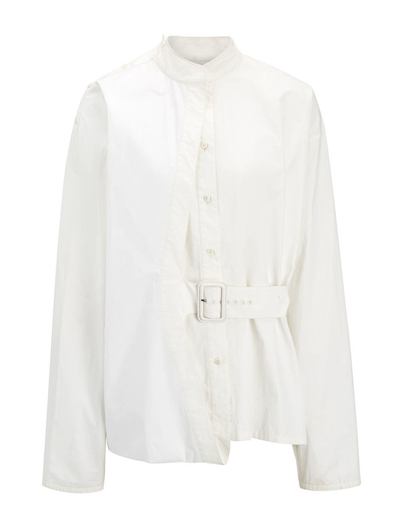Coated Poplin Jason Blouse