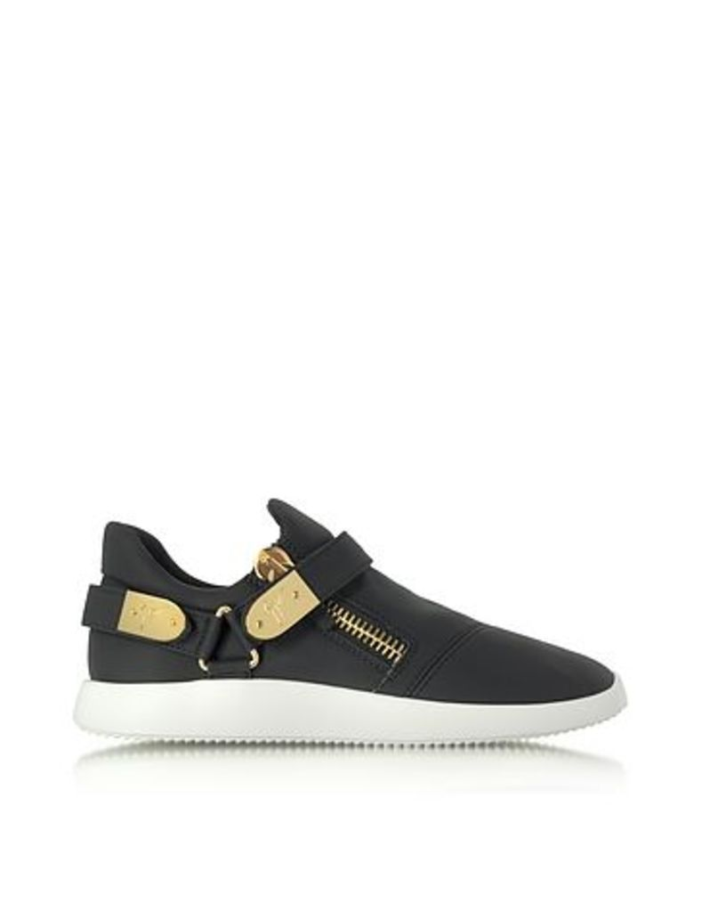 Giuseppe Zanotti - Black Gommato Leather Low Top Men's Sneakers