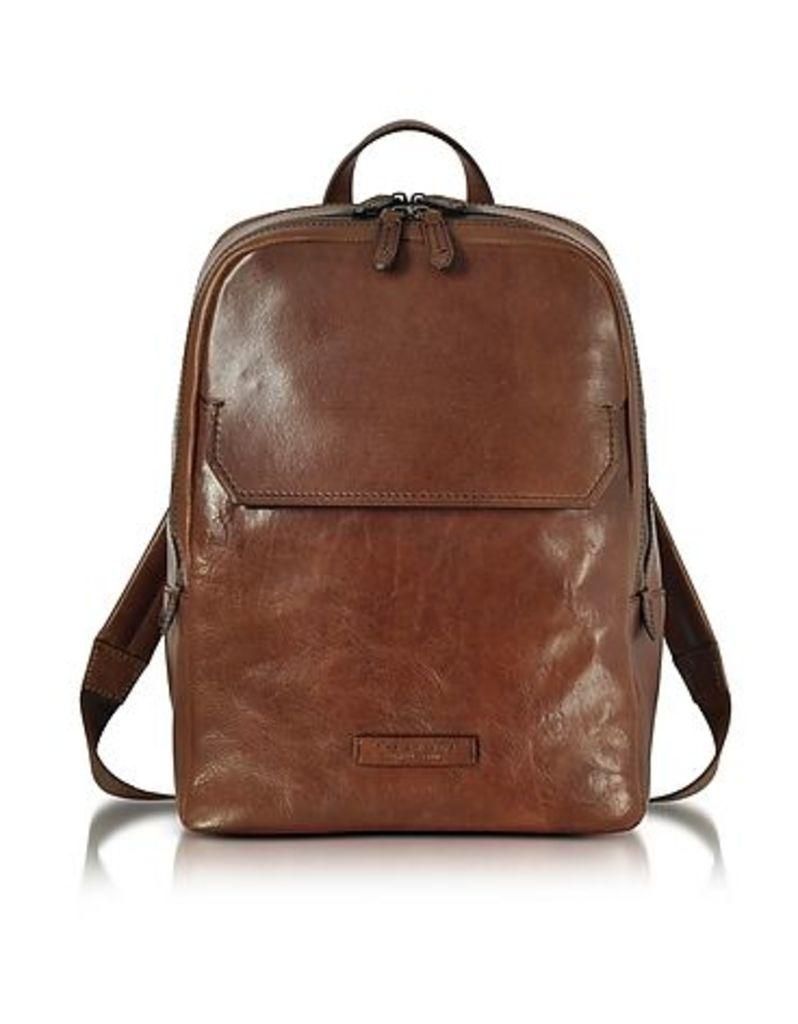 The Bridge - Marrone Leather Men's Backpack