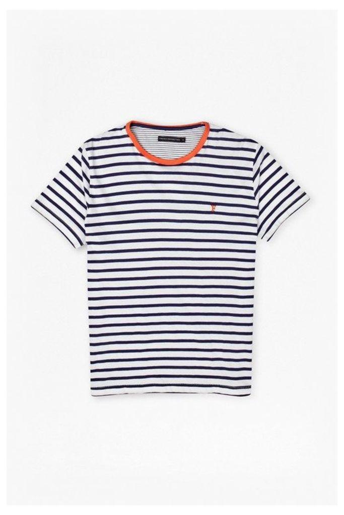 Langlois Stripe T-Shirt - blueblood/ayers red