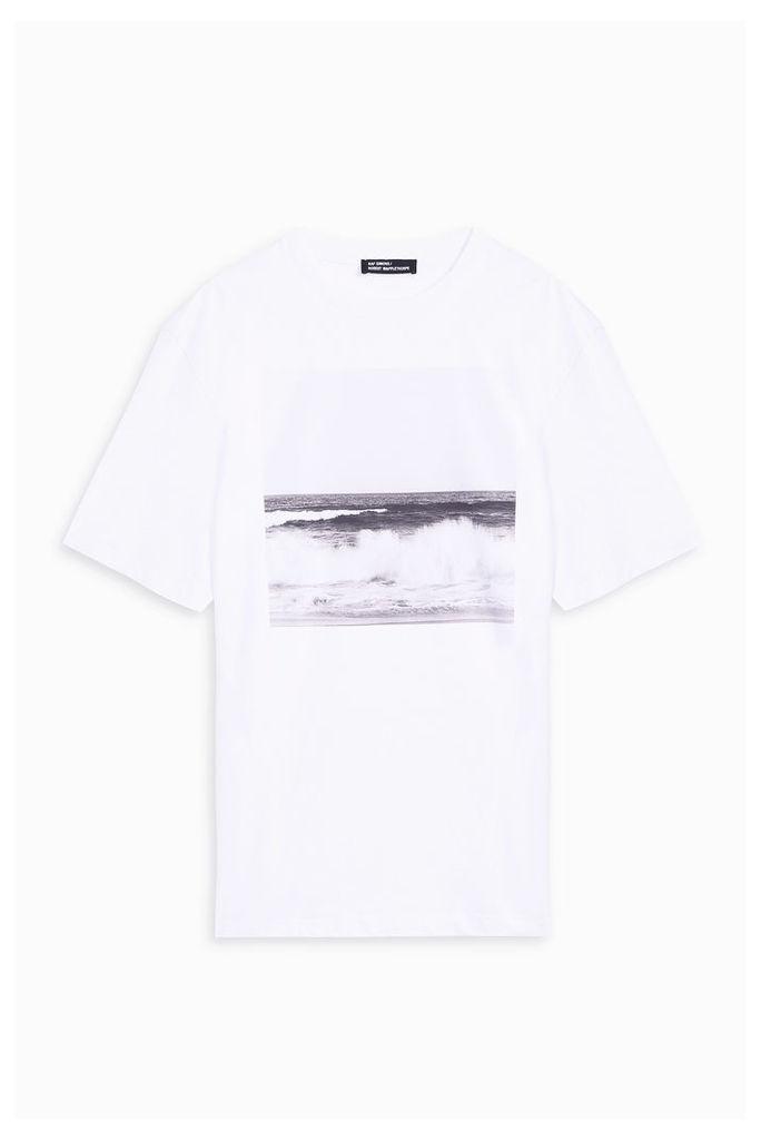 Raf Simons Men`s Wave Print Crew Neck Tee Boutique1