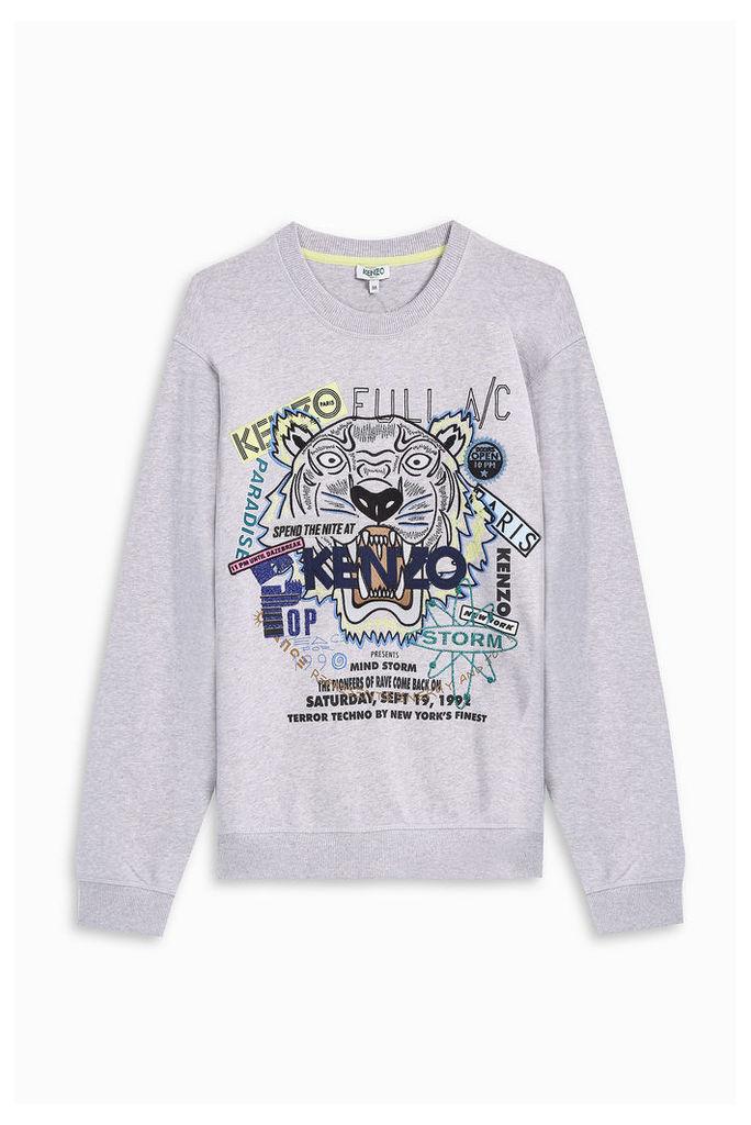 Kenzo Men`s Flyer Tiger Sweater Boutique1
