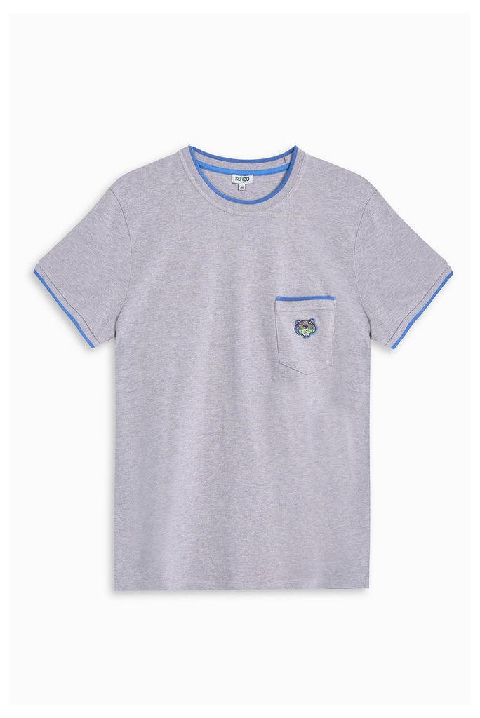 Kenzo Men`s Fluro Trim Pique T-shirt Boutique1