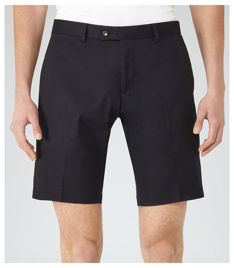 REISS Statten S - Mens Tailored Shorts in Blue