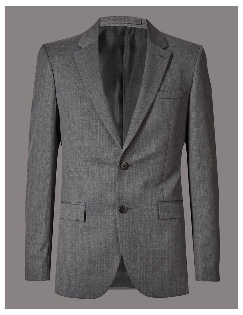 Autograph Big & Tall Grey Tailored Fit Wool Jacket