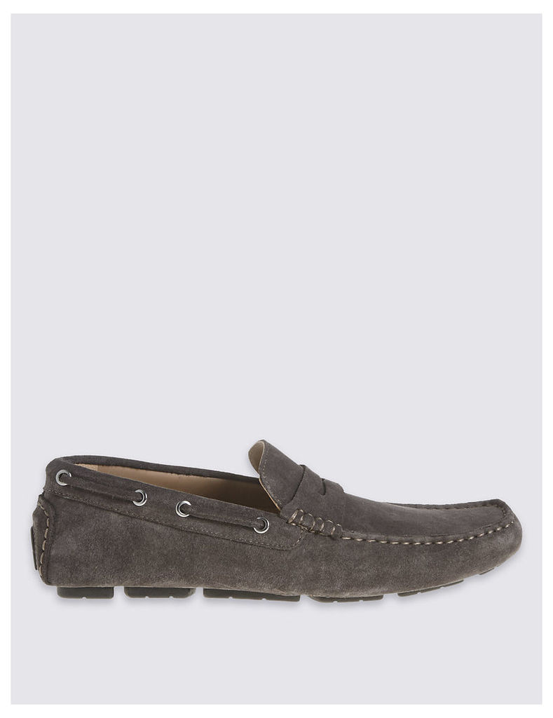 M&S Collection Suede Driver Slip-on Shoes