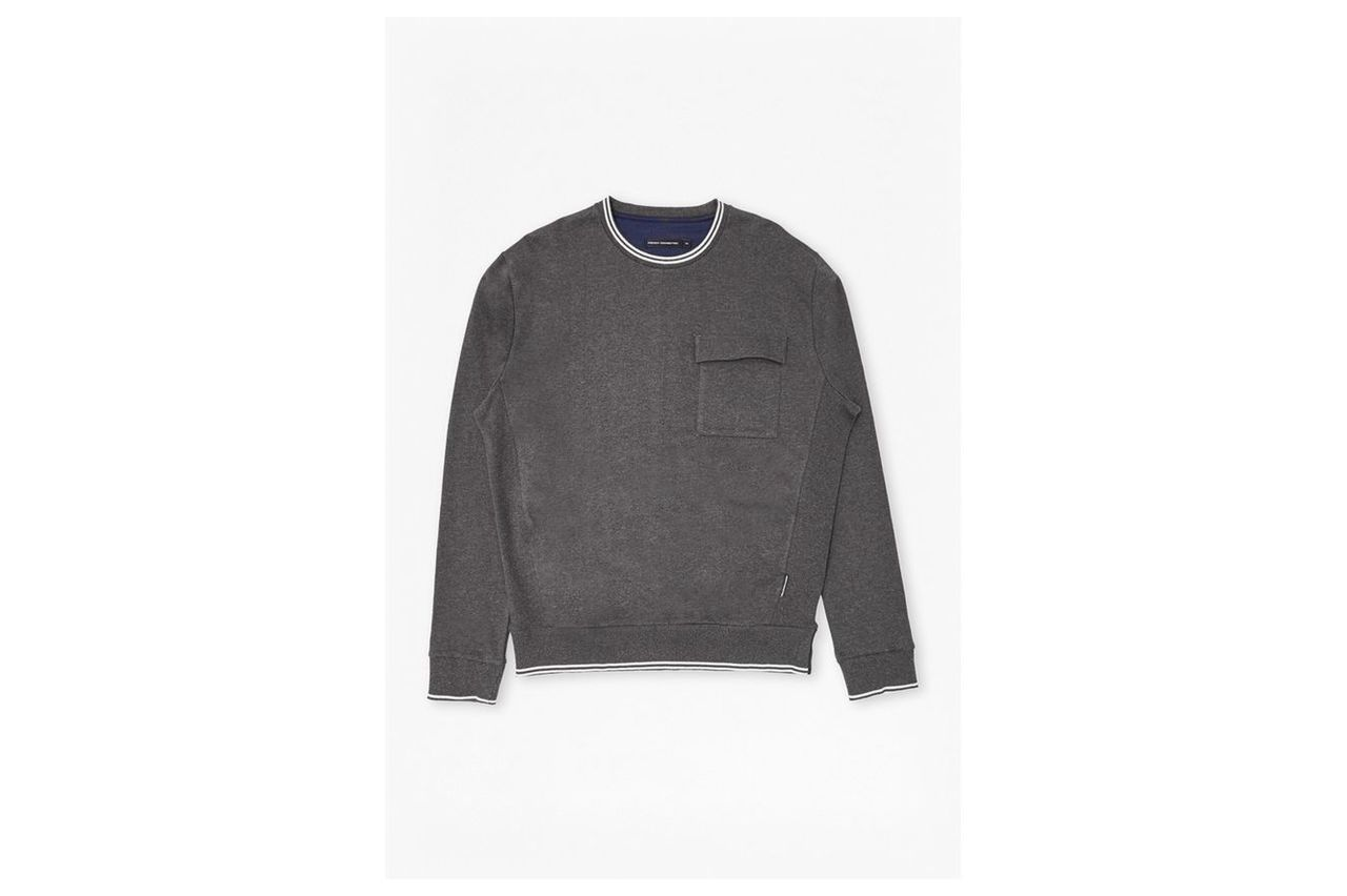 Rishi Rib Sweatshirt - charcoal mel/marine blue