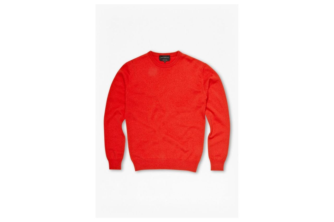 Cashmere Crew Neck Jumper - lifeboat red