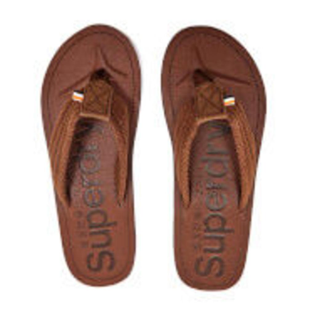 Superdry Men's Cove Toe Post Sandals - Brown
