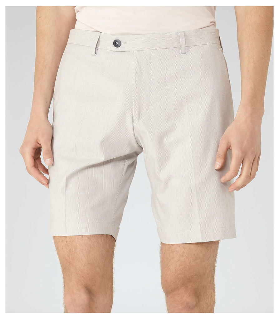 REISS Whinfell - Tailored Shorts in White, Mens