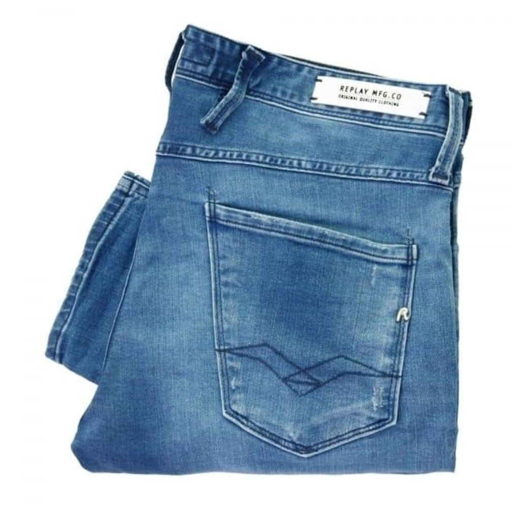 Replay Anbass Blue Denim Jeans M914 000 09B 752