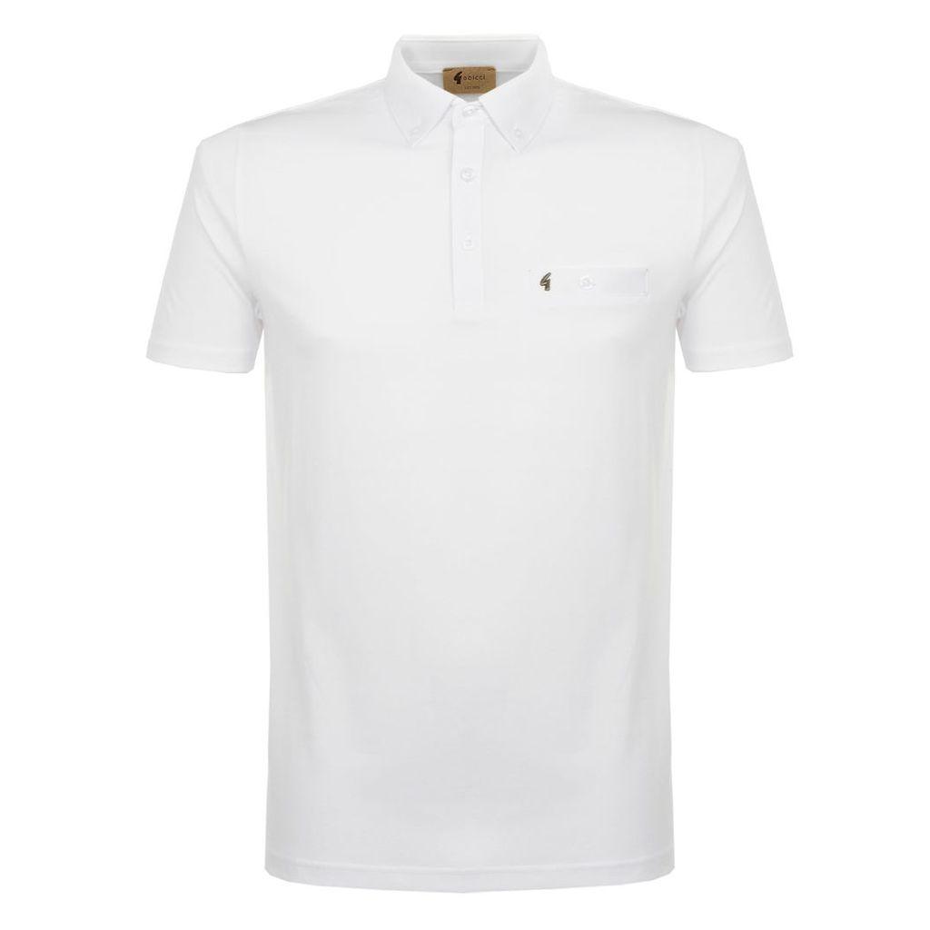 Gabicci Vintage White Polo Shirt V38GX18WH