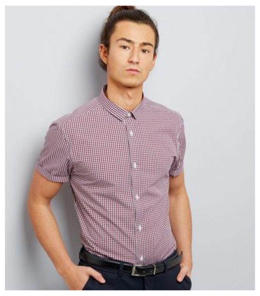 Red Gingham Short Sleeve Shirt