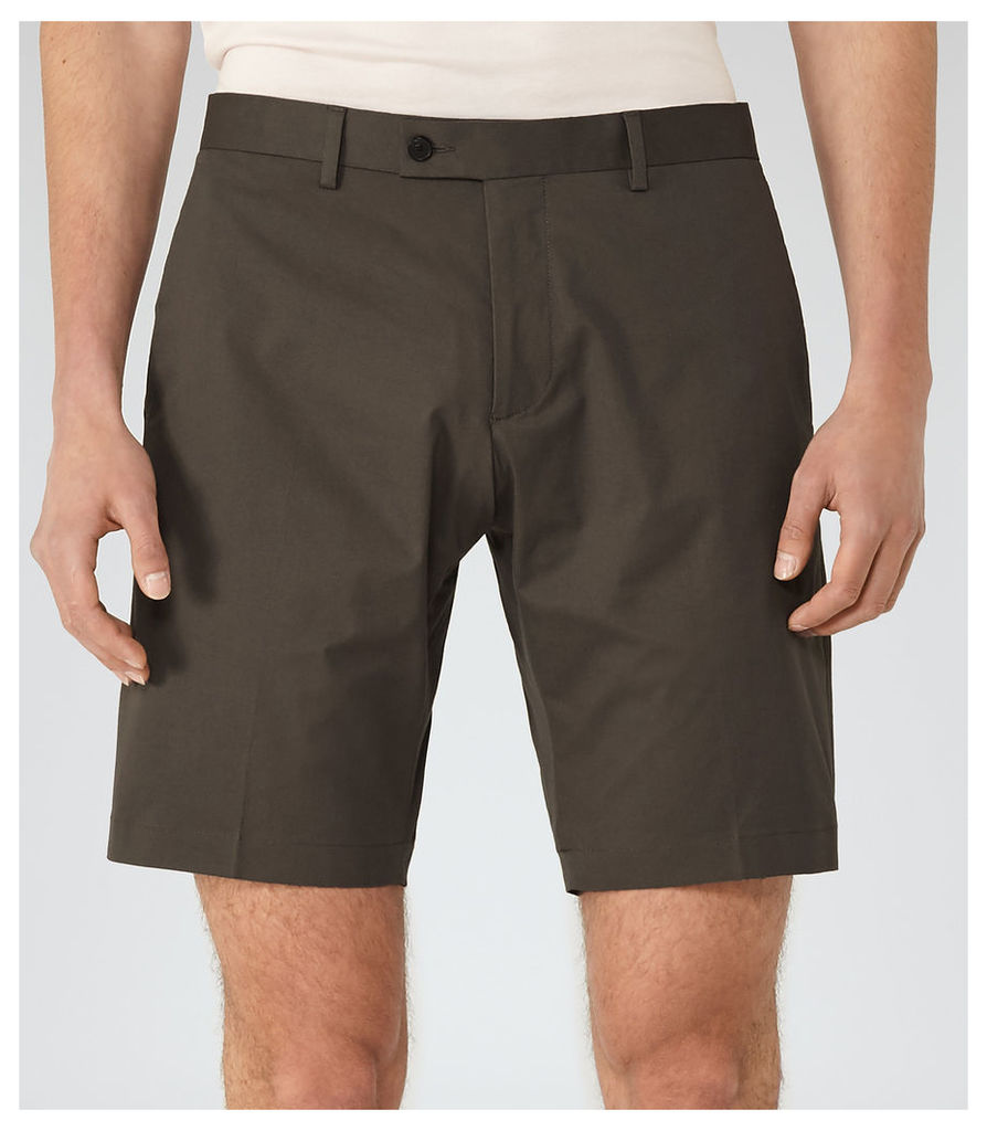 REISS Statten S - Mens Tailored Shorts in Brown