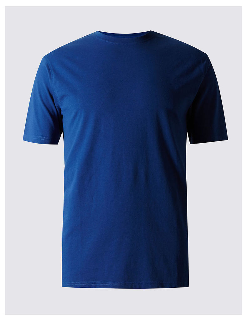 M&S Collection Slim Fit Pure Cotton Crew Neck T-Shirt