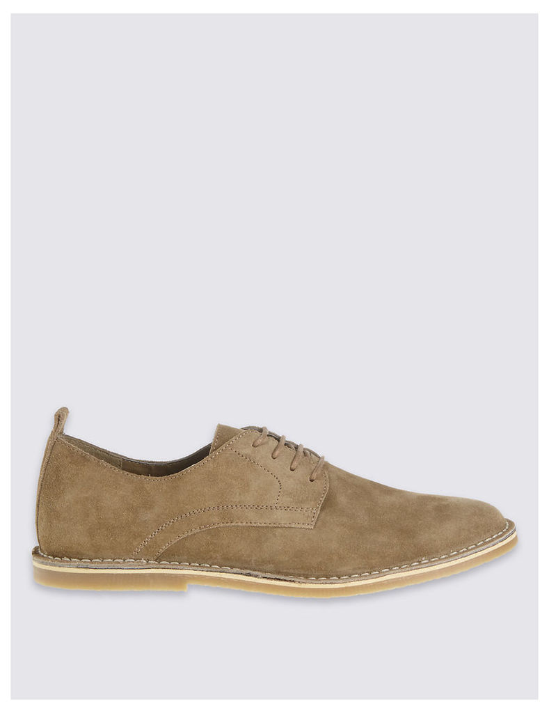 M&S Collection Suede Desert Lace-up Shoes