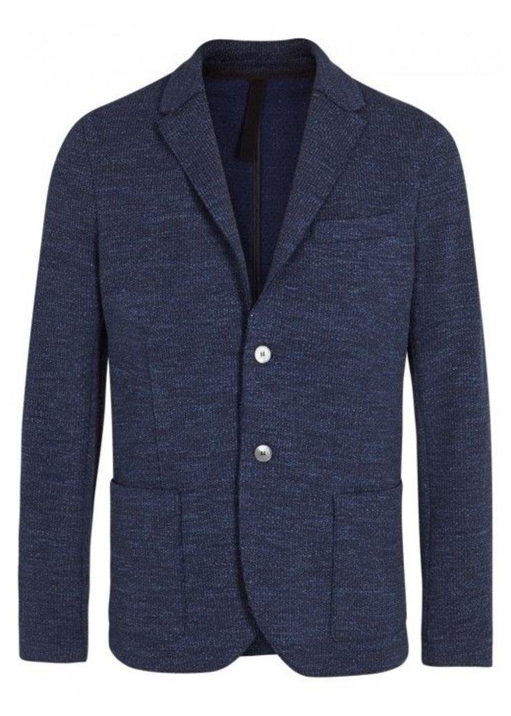 Harris Wharf London Dark Blue Wool Blend Blazer - Size 42
