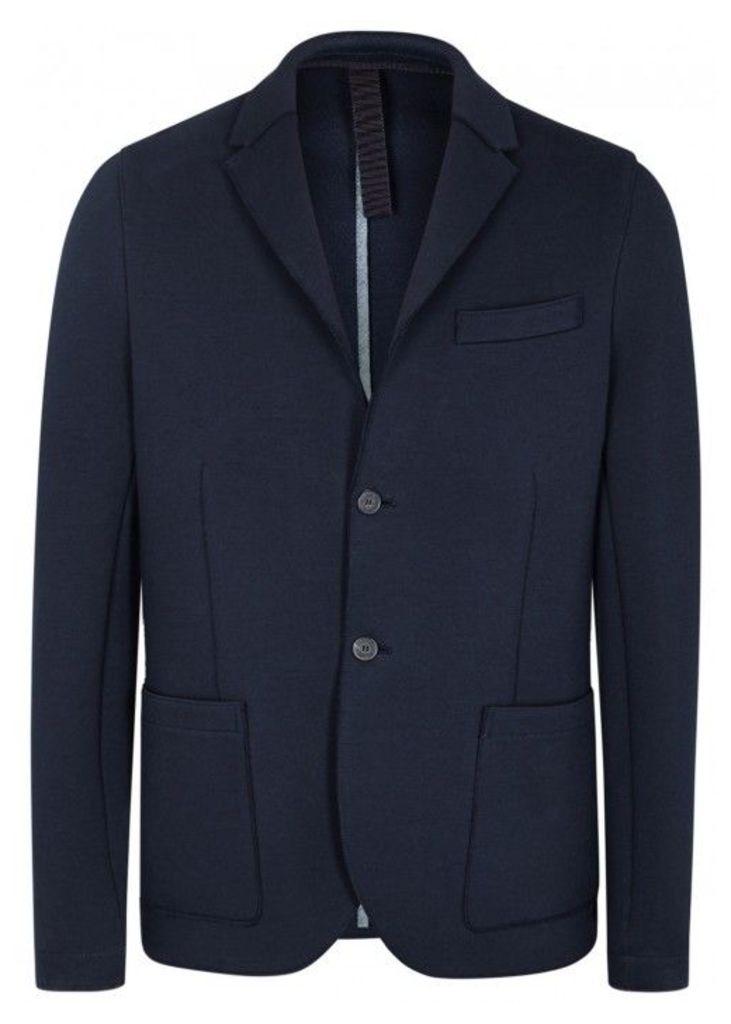 Harris Wharf London Dark Blue Cotton Blend Blazer - Size 40