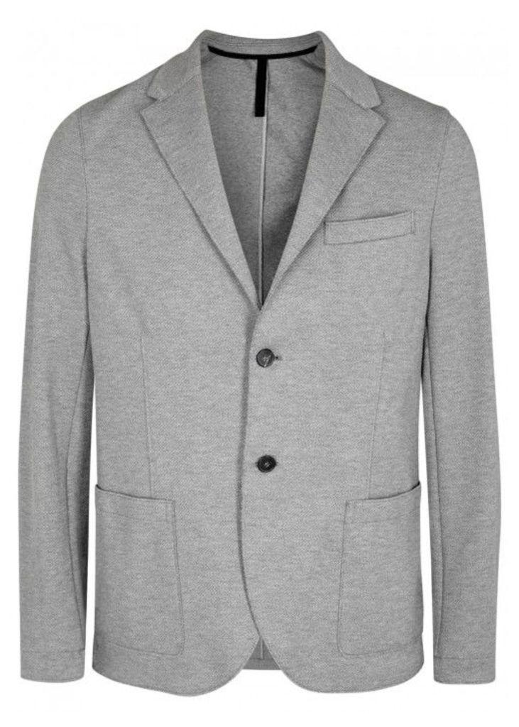 Harris Wharf London Light Grey Cotton Twill Blazer - Size 40