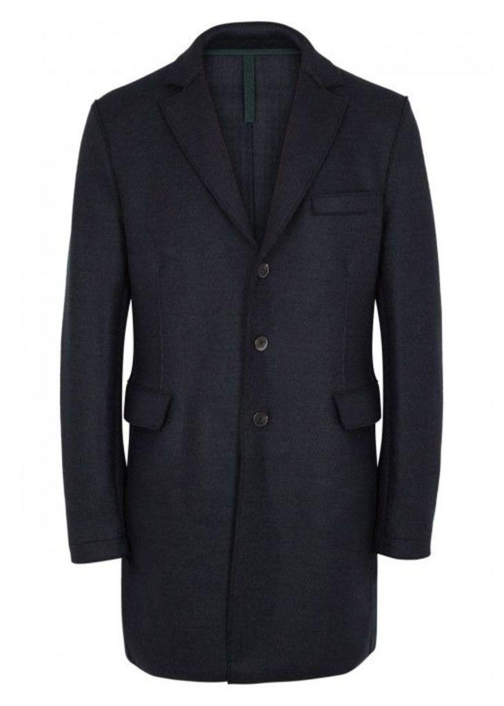 Harris Wharf London Chester Navy Wool Coat - Size 40