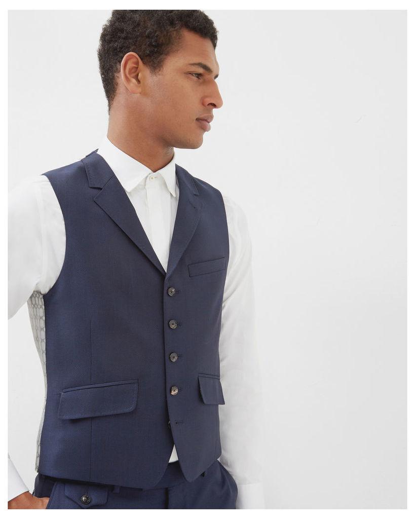 Ted Baker Sterling wool waistcoat Blue