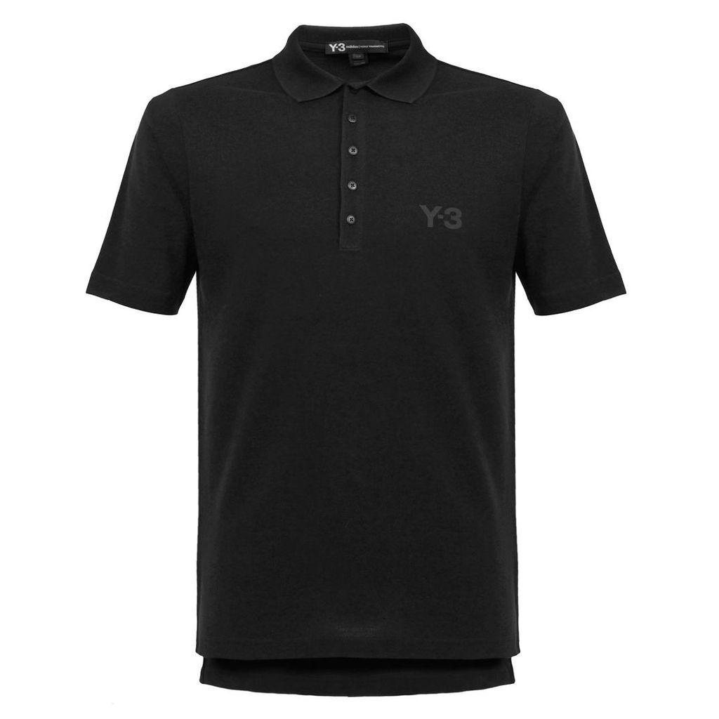 Adidas Y-3 M Seasonal Black Polo Shirt BS3386
