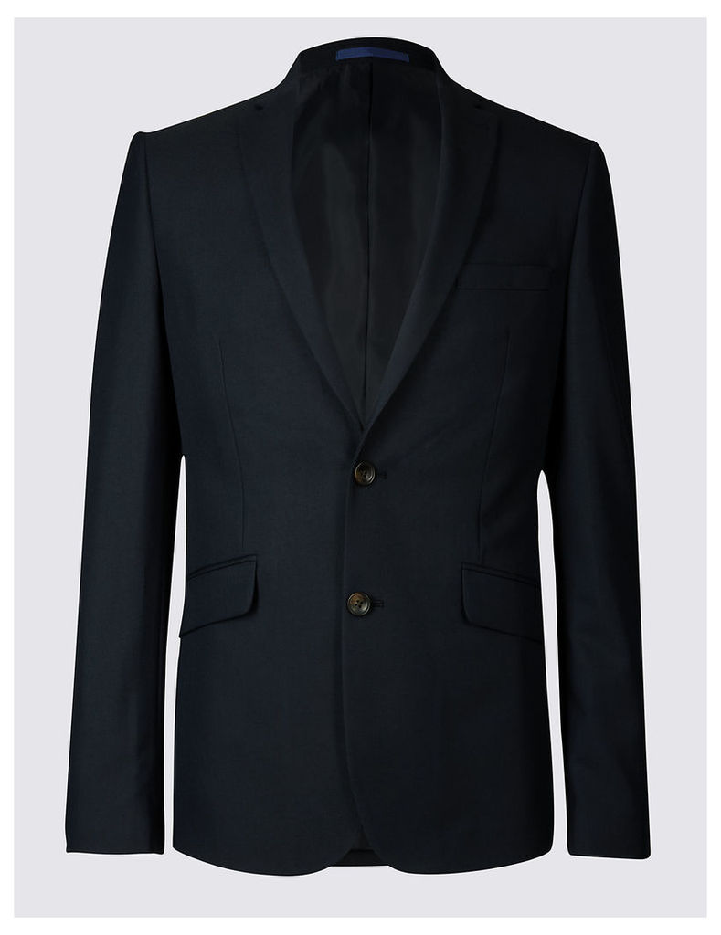M&S Collection Navy Modern Slim Fit Jacket