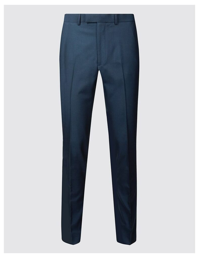 M&S Collection Indigo Tailored Fit Trousers