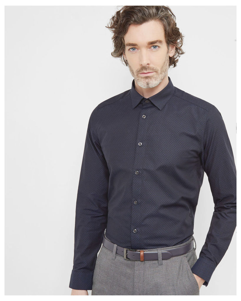 Ted Baker Oxford cotton shirt Navy