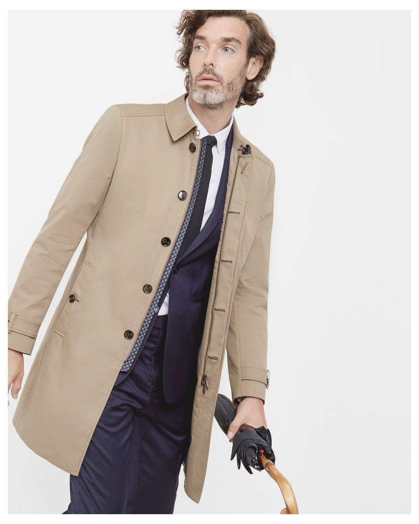 Ted Baker Single button mac Natural