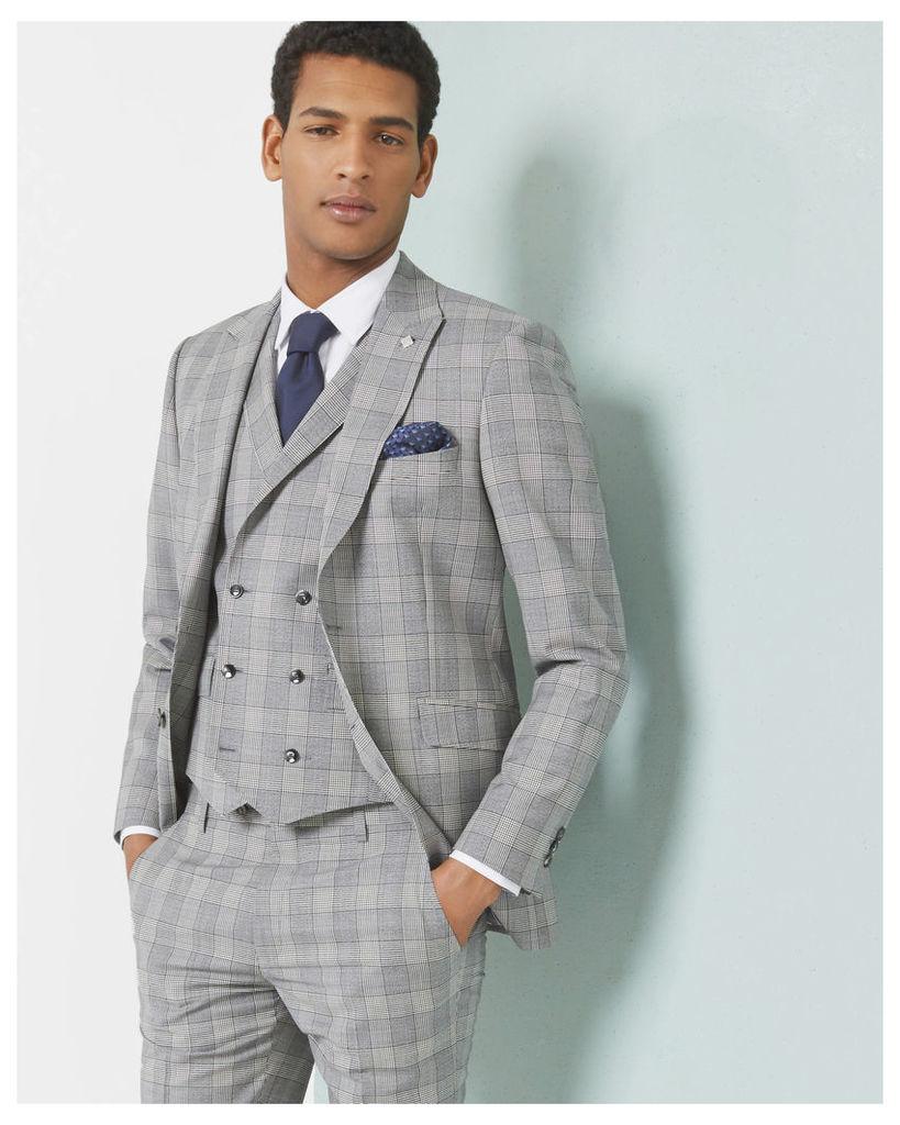 Ted Baker Debonair checked wool-Mohair jacket Grey