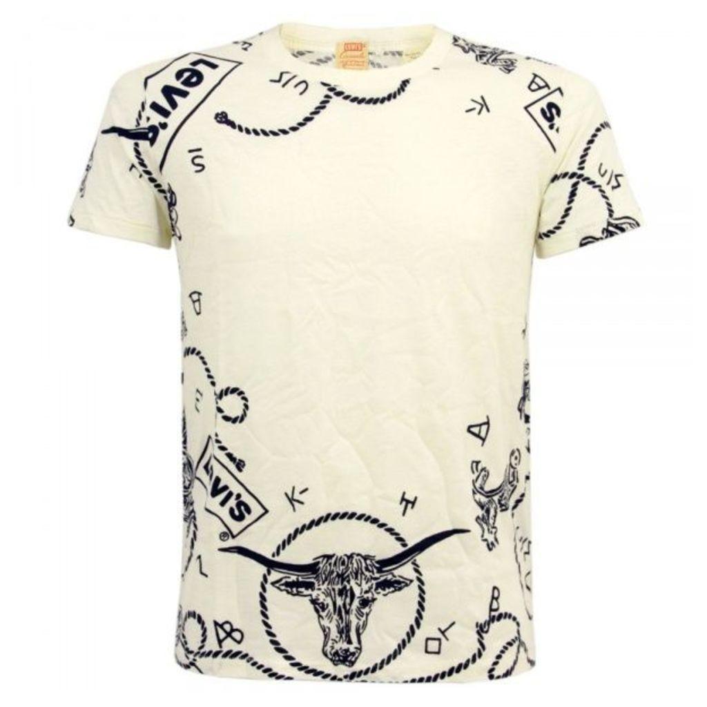 Levis Vintage 1940s White Graphic T-Shirt 32479-0002