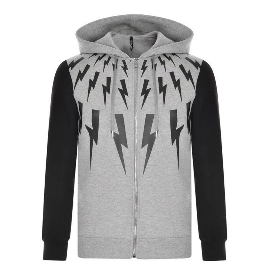 NEIL BARRETT Star And Lightning Zip Sweatshirt