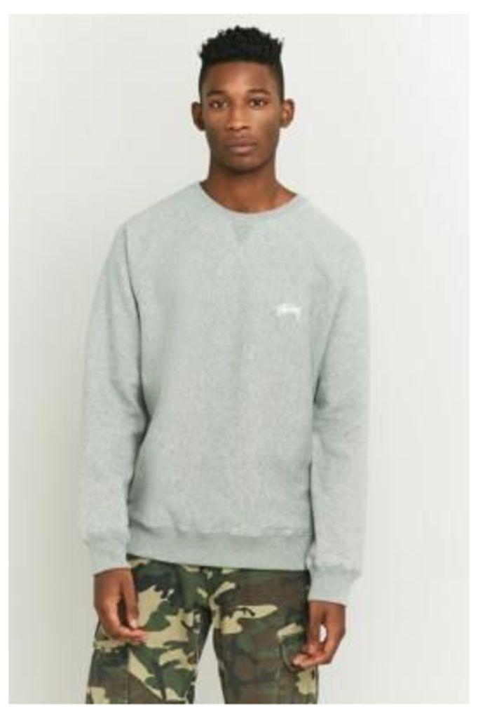Stussy Grey Stock Raglan Sweatshirt, GREY