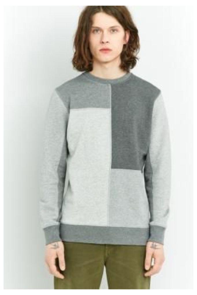 Shore Leave Grey Patchwork Sweatshirt, GREY