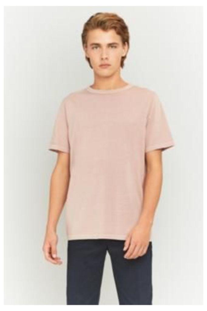 UO Pink Pigment Dye Crewneck T-shirt, PINK