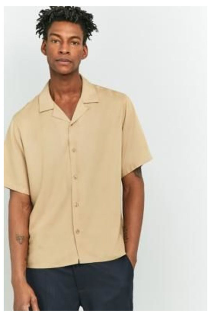 Loom Camel Short-Sleeve Shirt, TAN