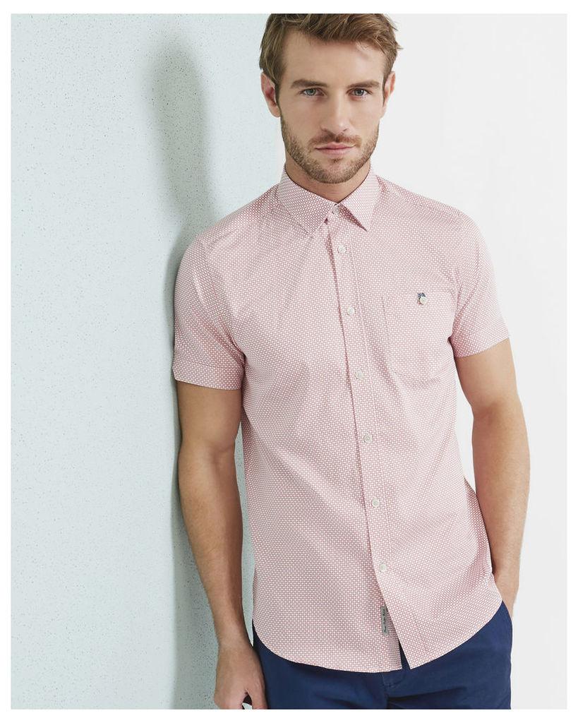 Ted Baker Diamond print cotton shirt Light Pink