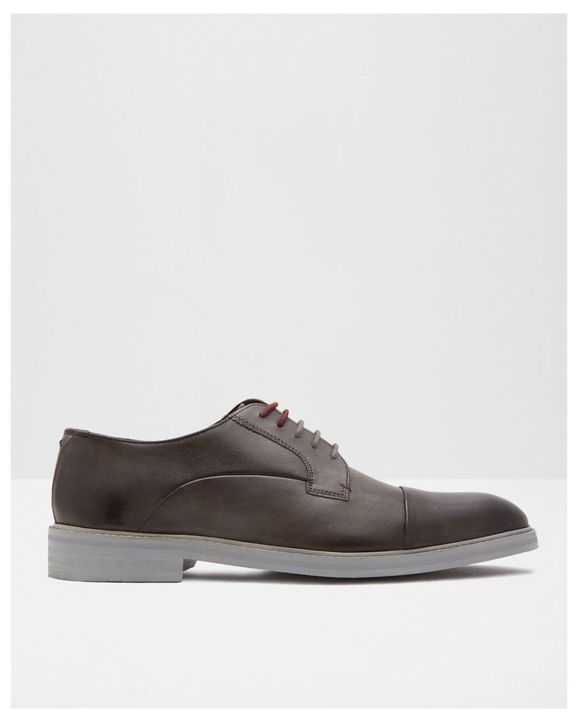 Ted Baker Toe cap leather derby shoes Grey