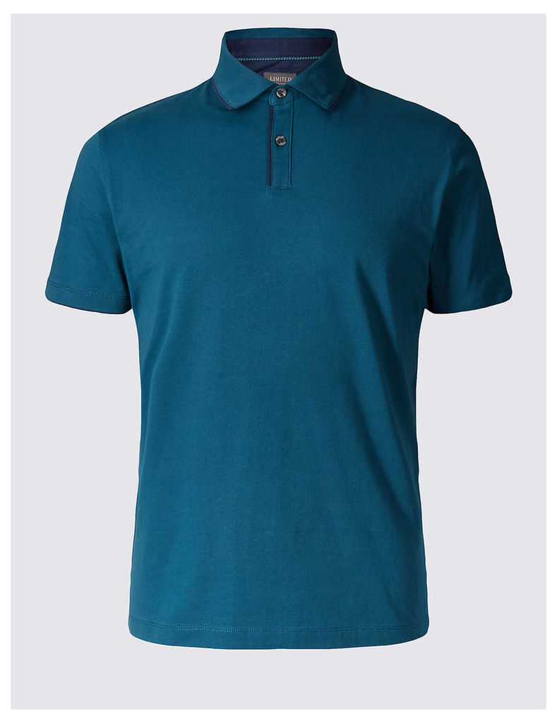 Limited Edition Slim Fit Pure Cotton Polo Shirt