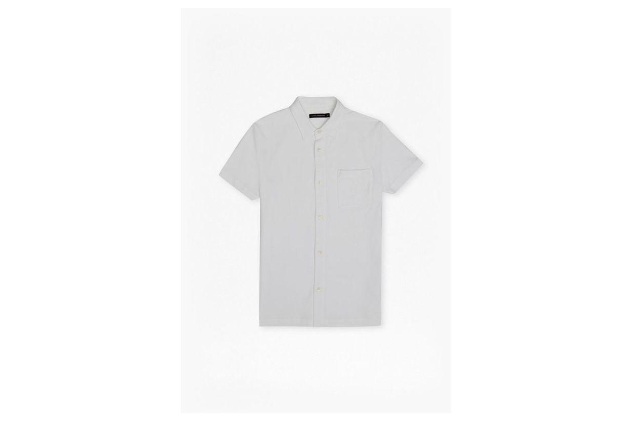 Central Crepe Short Sleeve Shirt - optic white