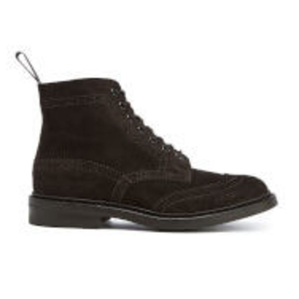 Knutsford by Tricker's Men's Stow Suede Lace Up Boots - Coffee