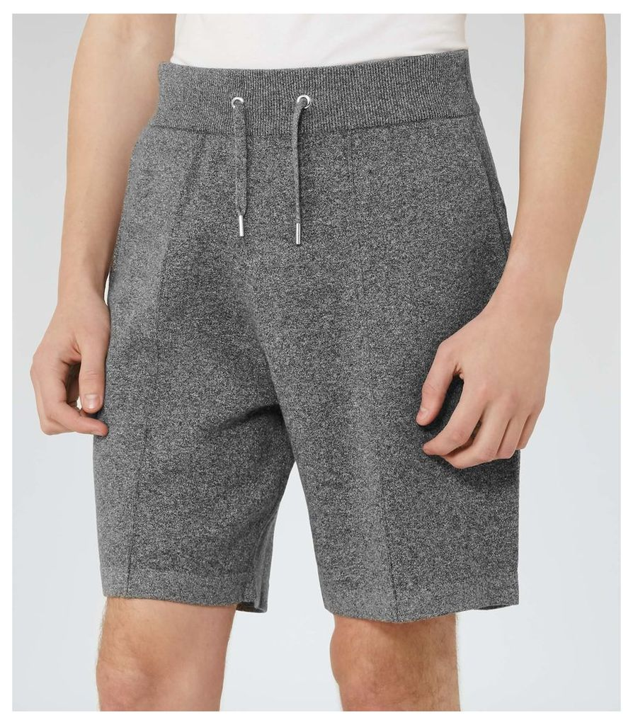 REISS Arc - Mens Jersey Shorts in Grey