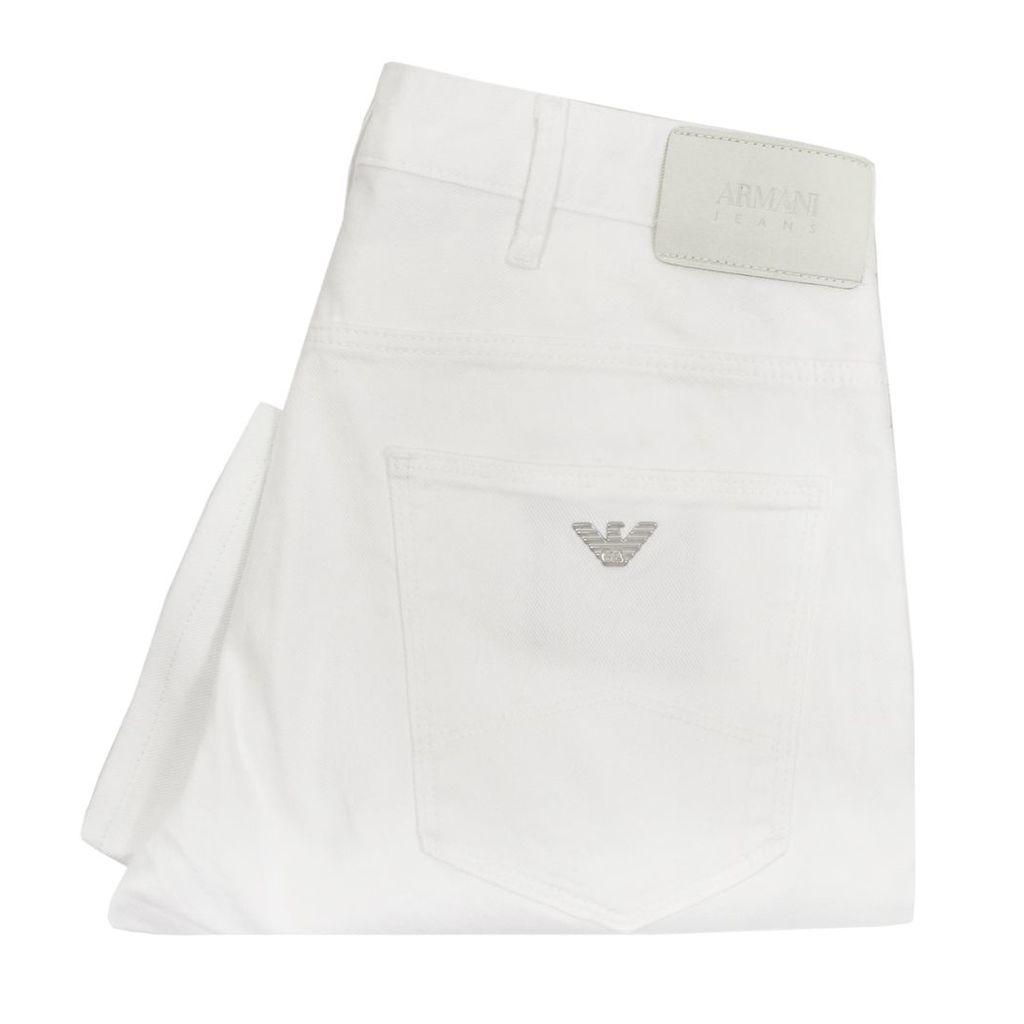 Armani Jeans J06 Slim White Denim Jeans 3Y6J06